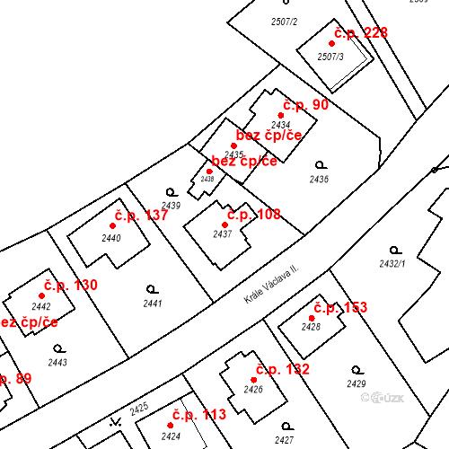 Katastrální mapa Stavební objekt Staré Splavy 108, Doksy
