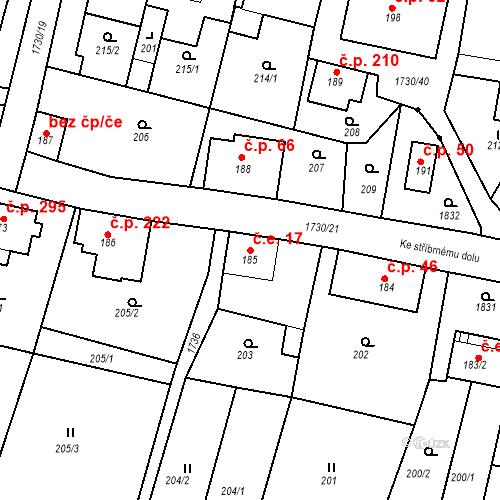 Katastrální mapa Stavební objekt Jiřetín pod Jedlovou 17, Jiřetín pod Jedlovou