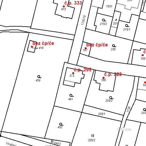 Katastrální mapa Stavební objekt Jiřetín pod Jedlovou 295, Jiřetín pod Jedlovou