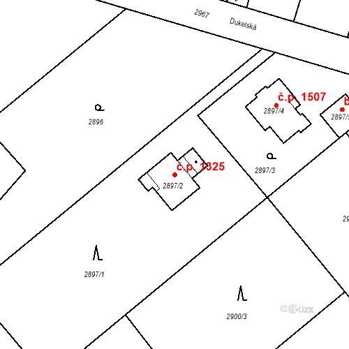 Katastrální mapa Stavební objekt Stará Boleslav 1325, Brandýs nad Labem-Stará Boleslav