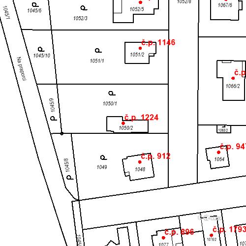 Katastrální mapa Stavební objekt Stará Boleslav 1224, Brandýs nad Labem-Stará Boleslav