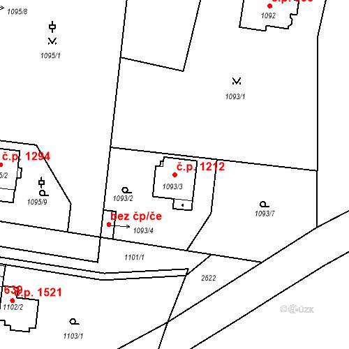 Katastrální mapa Stavební objekt Stará Boleslav 1212, Brandýs nad Labem-Stará Boleslav