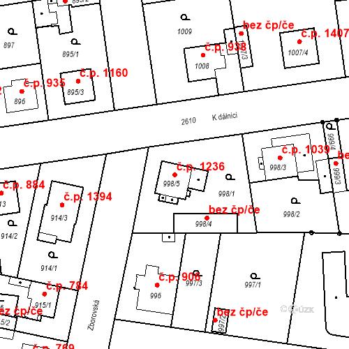 Katastrální mapa Stavební objekt Stará Boleslav 1236, Brandýs nad Labem-Stará Boleslav