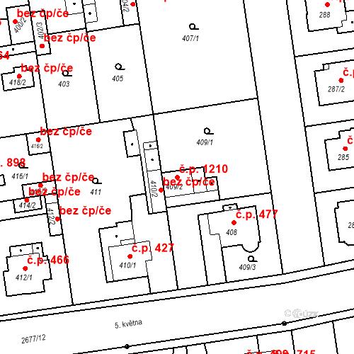 Katastrální mapa Stavební objekt Stará Boleslav 1210, Brandýs nad Labem-Stará Boleslav