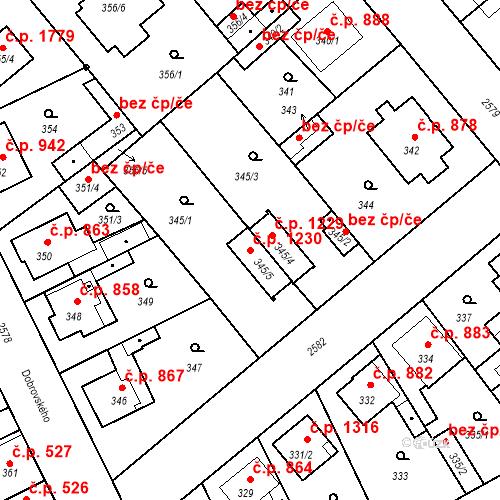 Katastrální mapa Stavební objekt Stará Boleslav 1230, Brandýs nad Labem-Stará Boleslav