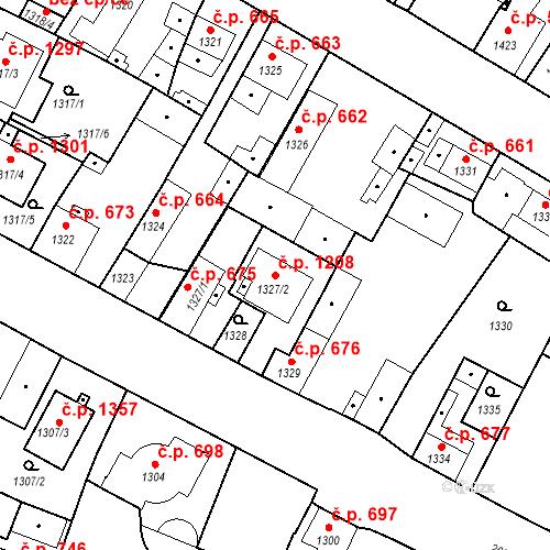 Katastrální mapa Stavební objekt Stará Boleslav 1208, Brandýs nad Labem-Stará Boleslav