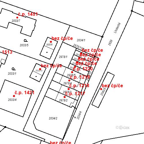 Katastrální mapa Stavební objekt Stará Boleslav 1220, Brandýs nad Labem-Stará Boleslav
