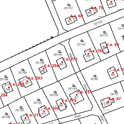 Katastrální mapa Stavební objekt Zlenice 273, Lštění