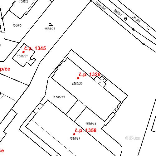 Katastrální mapa Stavební objekt Stará Boleslav 1326, Brandýs nad Labem-Stará Boleslav