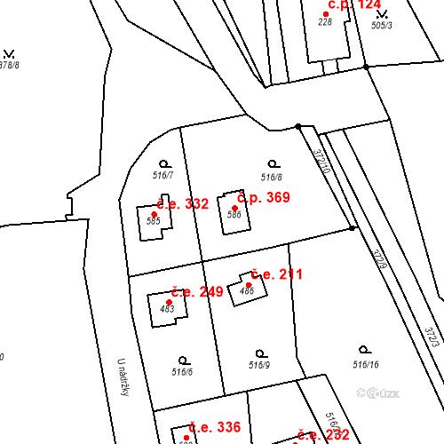 Katastrální mapa Stavební objekt Senohraby 369, Senohraby