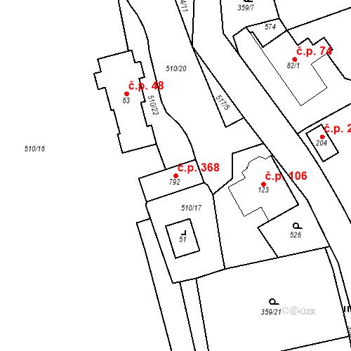 Katastrální mapa Stavební objekt Senohraby 368, Senohraby