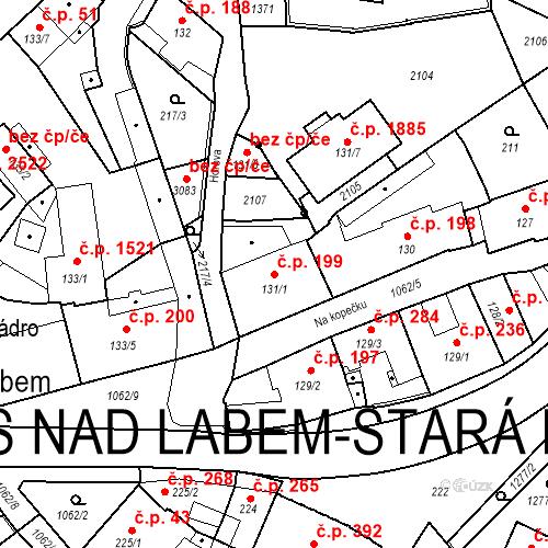 Katastrální mapa Stavební objekt Brandýs nad Labem 199, Brandýs nad Labem-Stará Boleslav
