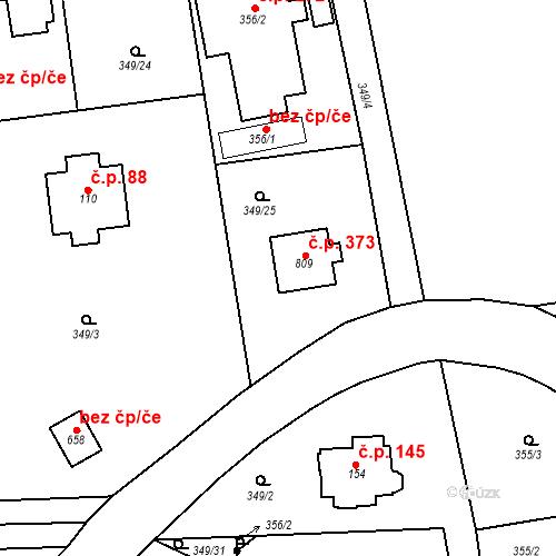 Katastrální mapa Stavební objekt Senohraby 373, Senohraby