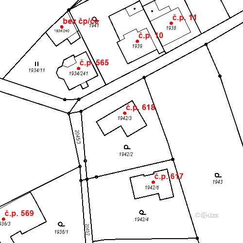 Katastrální mapa Stavební objekt České Velenice 618, České Velenice