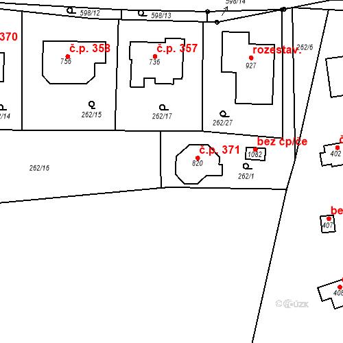 Katastrální mapa Stavební objekt Senohraby 371, Senohraby
