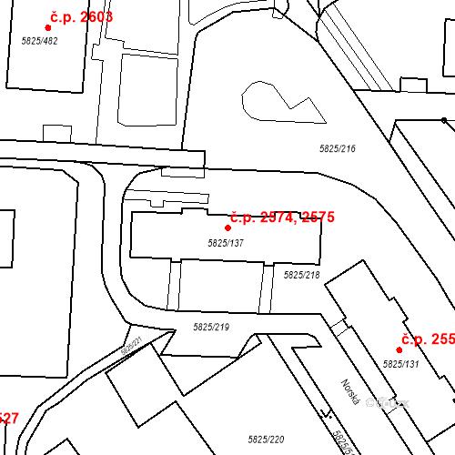 Katastrální mapa Stavební objekt Česká Lípa 2574, Česká Lípa