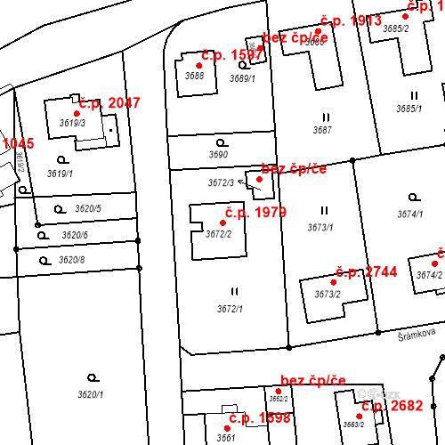 Katastrální mapa Stavební objekt Česká Lípa 1979, Česká Lípa