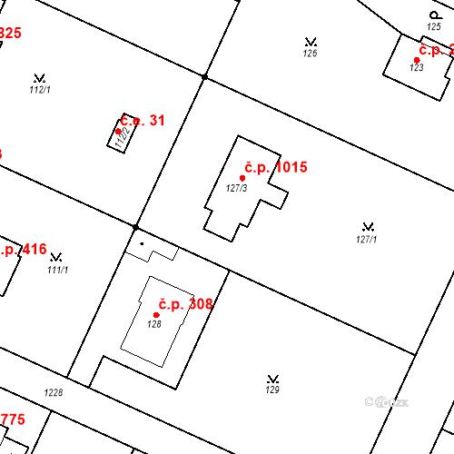Katastrální mapa Stavební objekt Klánovice 1015, Praha