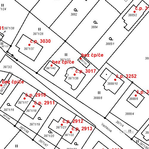 Katastrální mapa Stavební objekt Česká Lípa 3017, Česká Lípa