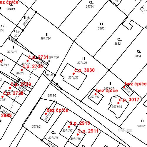 Katastrální mapa Stavební objekt Česká Lípa 3030, Česká Lípa