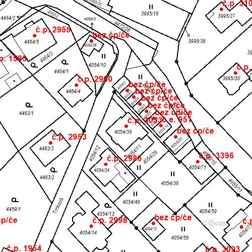 Katastrální mapa Stavební objekt Česká Lípa 3033, Česká Lípa