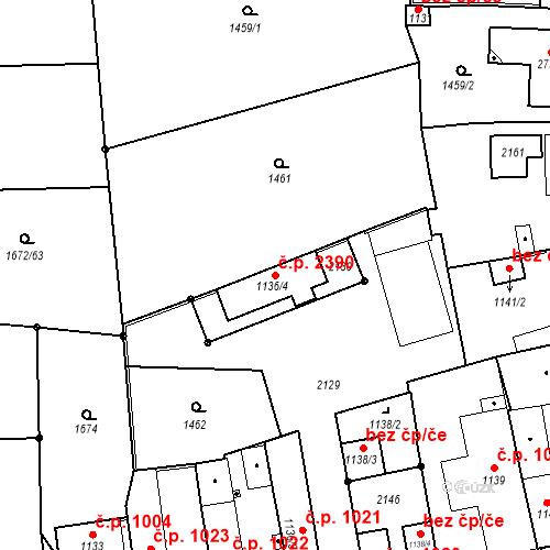 Katastrální mapa Stavební objekt Brandýs nad Labem 2390, Brandýs nad Labem-Stará Boleslav