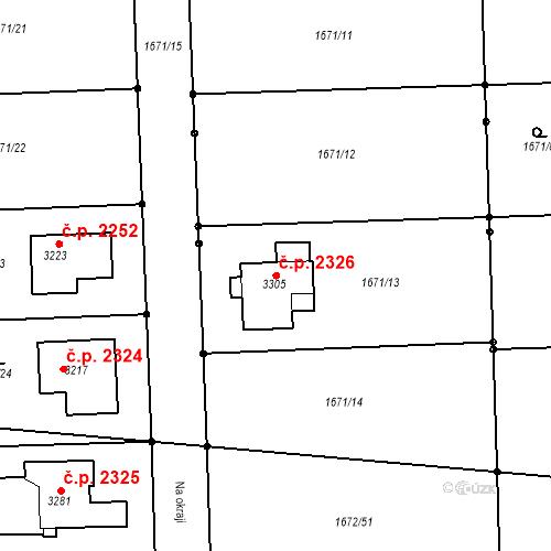 Katastrální mapa Stavební objekt Brandýs nad Labem 2326, Brandýs nad Labem-Stará Boleslav
