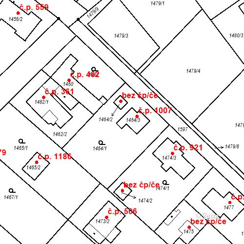 Katastrální mapa Stavební objekt Klánovice 1007, Praha