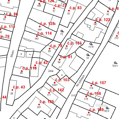 Katastrální mapa Stavební objekt Byšice 81, Byšice
