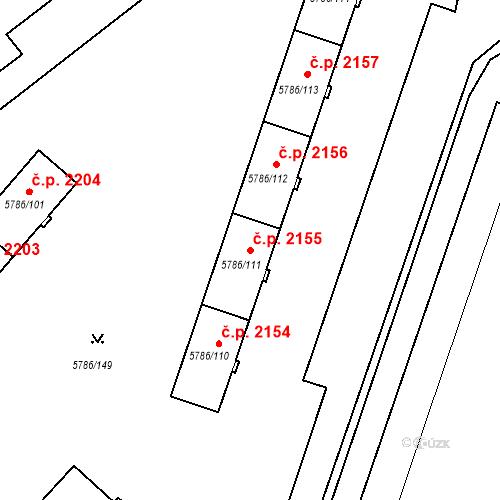 Katastrální mapa Stavební objekt Česká Lípa 2155, Česká Lípa