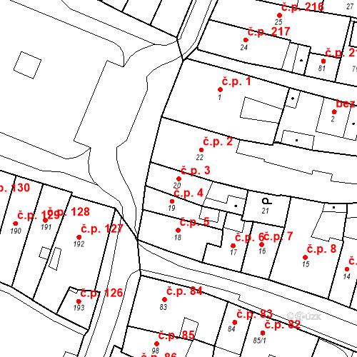 Katastrální mapa Stavební objekt Česká Lípa 3, Česká Lípa