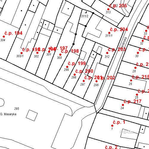 Katastrální mapa Stavební objekt Česká Lípa 200, Česká Lípa