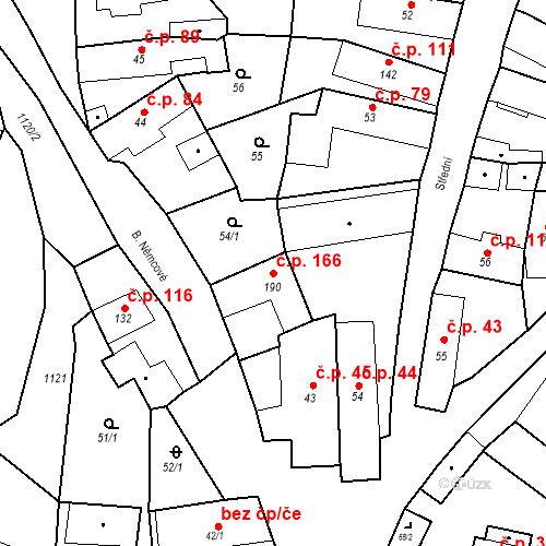 Katastrální mapa Stavební objekt Byšice 166, Byšice