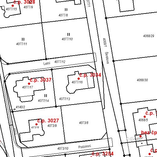 Katastrální mapa Stavební objekt Česká Lípa 3034, Česká Lípa