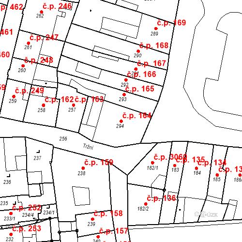 Katastrální mapa Stavební objekt Česká Lípa 164, Česká Lípa