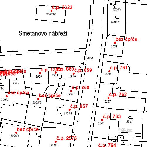 Katastrální mapa Stavební objekt Česká Lípa 859, Česká Lípa