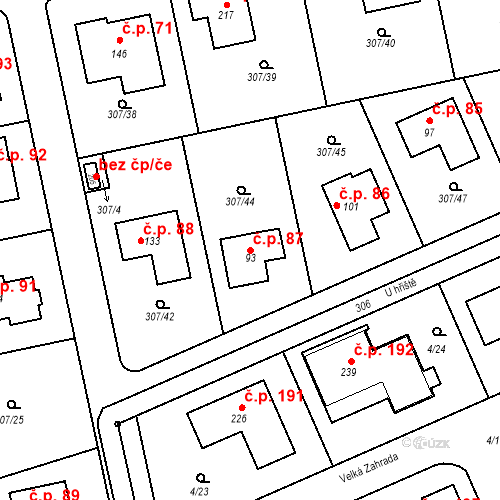 Katastrální mapa Stavební objekt Svémyslice 87, Svémyslice
