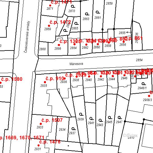 Katastrální mapa Stavební objekt Česká Lípa 864, Česká Lípa
