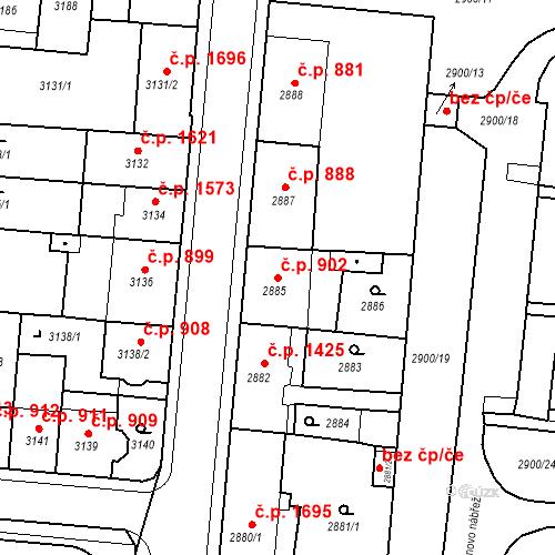 Katastrální mapa Stavební objekt Česká Lípa 902, Česká Lípa