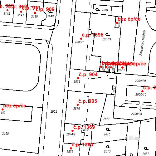 Katastrální mapa Stavební objekt Česká Lípa 904, Česká Lípa