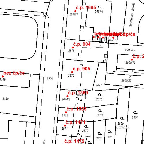 Katastrální mapa Stavební objekt Česká Lípa 905, Česká Lípa
