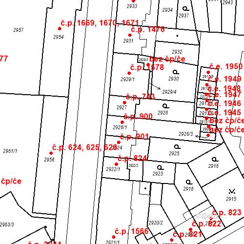 Katastrální mapa Stavební objekt Česká Lípa 900, Česká Lípa