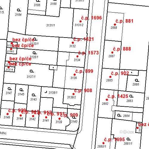 Katastrální mapa Stavební objekt Česká Lípa 899, Česká Lípa