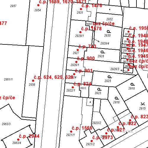 Katastrální mapa Stavební objekt Česká Lípa 901, Česká Lípa