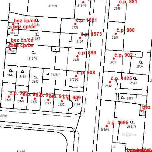 Katastrální mapa Stavební objekt Česká Lípa 908, Česká Lípa