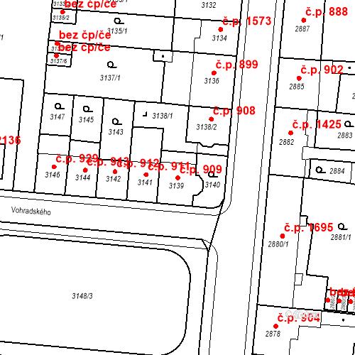 Katastrální mapa Stavební objekt Česká Lípa 909, Česká Lípa