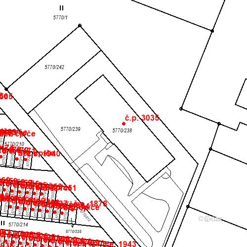 Katastrální mapa Stavební objekt Česká Lípa 3035, Česká Lípa