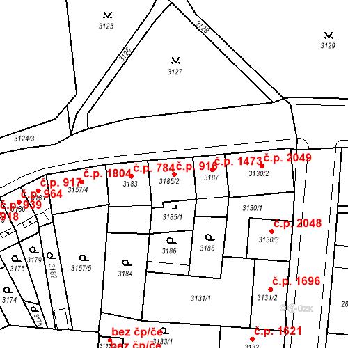 Katastrální mapa Stavební objekt Česká Lípa 916, Česká Lípa