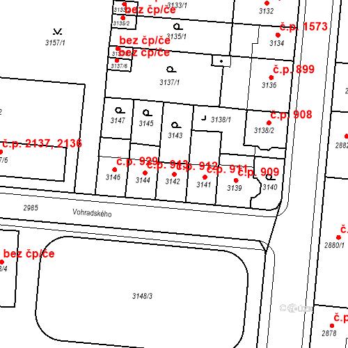 Katastrální mapa Stavební objekt Česká Lípa 912, Česká Lípa
