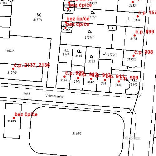 Katastrální mapa Stavební objekt Česká Lípa 913, Česká Lípa